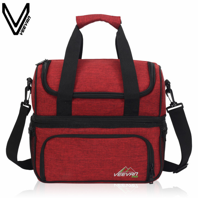 VEEVAN Top Quality Portable Insulated Lunch Bag For Women Large Food Picnic Cooler Box Tote Bag Multifunction Thermal Lunch Bag