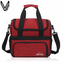 VEEVANV Top Quality Portable Insulated Lunch Bag For Women Large Food Picnic Cooler Box Tote Bag Multifunction Thermal Lunch Bag