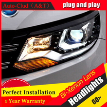 Auto Clud 2013 15 For vw tiguan headlights car styling Q5 bi xenon lens LED DRL14