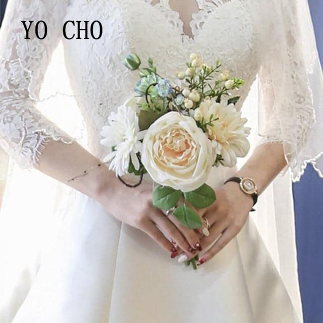 8dfe4cacf6 Visualizzza di più. YO CHO Partito Damigella D'onore Bouquet Bouquet Da  Sposa Wedding Bouquet Per Le Spose