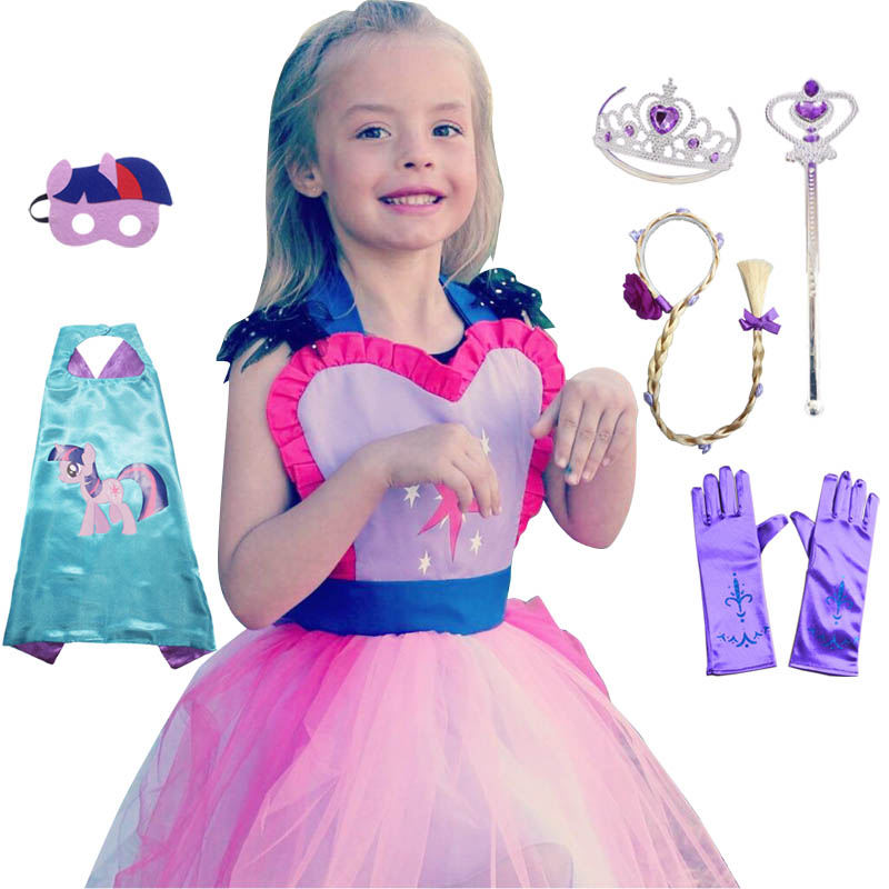 Costume for Kids MLP Costume Tutu Apron for Girls Fun for Special Occasion Birthday Party Dress Up Halloween