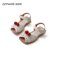 CCTWINS KIDS 2018 Summer Children Pu Leather Shoe Baby Girl Fashion Barefoot Hollow Sandal Toddler Princess