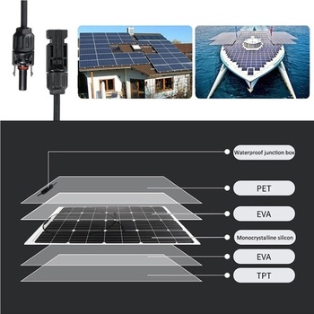 Xinpuguang Brand 100 W flexible solar panel kit 100 watt 120w for Home,Yacht, RV,Caravan, Cabin, Boat and 12v Battery Charger 3