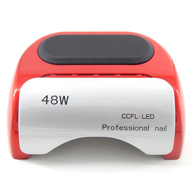 48 W LED UV Lámpara de Uñas de Gel Esmalte de Uñas Profesional CCFL LED UV de uñas Secador de Uñas con Temporizador Automático de Inducción Setting-ND03