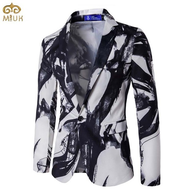 2017 Large Size 3D Print National Style Blazer Men Brand-clothing XXXL High Quality Party Men Blazer Slim Fit Blazer Masculino
