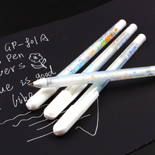 0.8MM White Ink Color Photo Album Gel Pen Stationery Office Learning Cute Unisex Wedding Gift for Kids