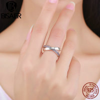 Genuine 100 925 Sterling Silver Sweet Promise Ring Pink CZ I Love You Finger Rings Women