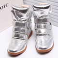 Мода Скрытые Клинья Сексуальная Холст Обувь Женская Повседневная Обувь Женская Платформа Высокий Верх Тренеры Каблуки Сапоги Sapato Feminino