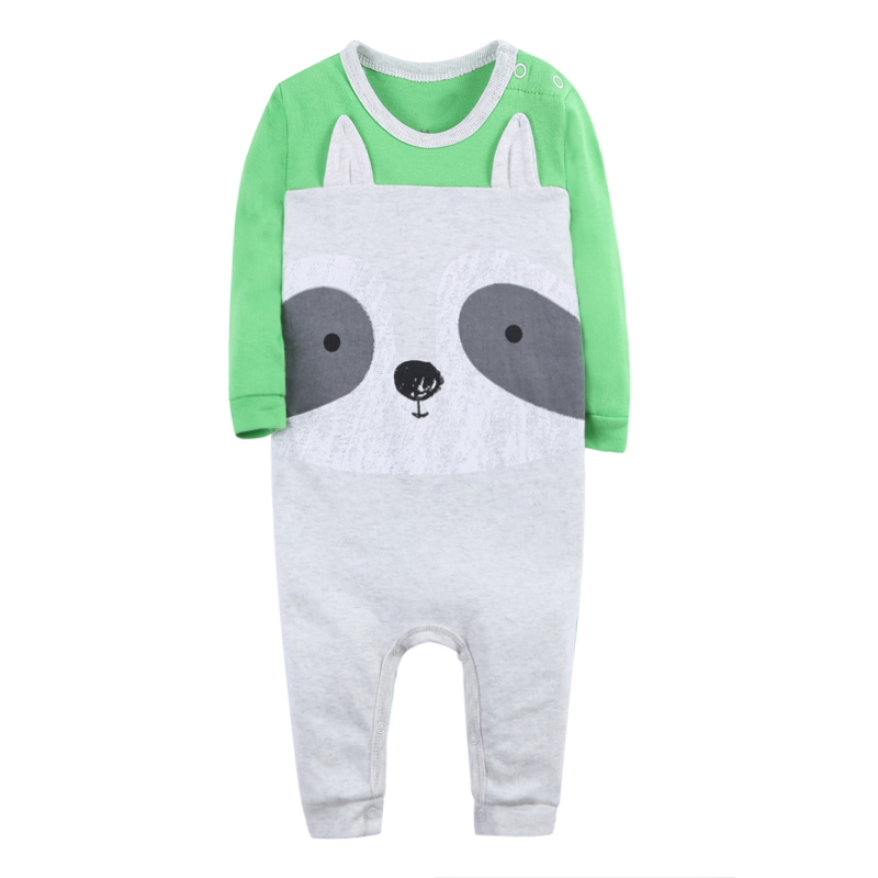 Baby Rompers Boys Girls Set Children Clothing Suit Baby Body Suits Kawaii Animal Pattern Newborn Jumpsuit 3-24 Month