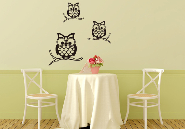 Owls Family On Tree Branch Wall Decal Sticker Kids Room Nursery Wall ...