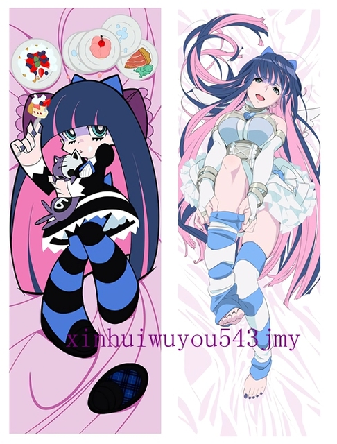 Us 36 0 Anime Japan Pillow Case Hugging Body 150 50 Peach Skin Panty Stocking With Garterbelt In Pillow Case From Home Garden On Aliexpress Com