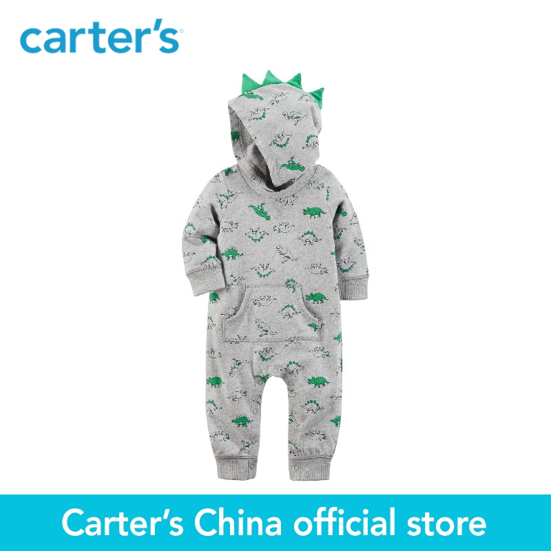 Carter's baby children kids clothing boy spring&summer Spike Jumpsuit Crafted soft French terry cotton 3D spike 118H960 la miniatura french terry bottom
