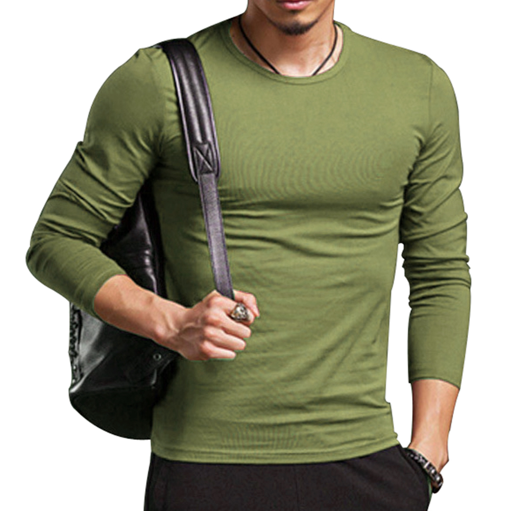 New brand clothing men 39 s casual tshirt tops solid color for Top dress shirt brands