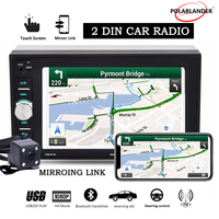 2 din car radio Bluetooth touch screen AUX IN USB TF MP5 mp4 android phone with rear camera 6.2 inch stereo Mirror Link