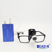 2017 new Portable LED Headlight with clip Lamp Black for Dental Lab Surgical Medical loupes glass