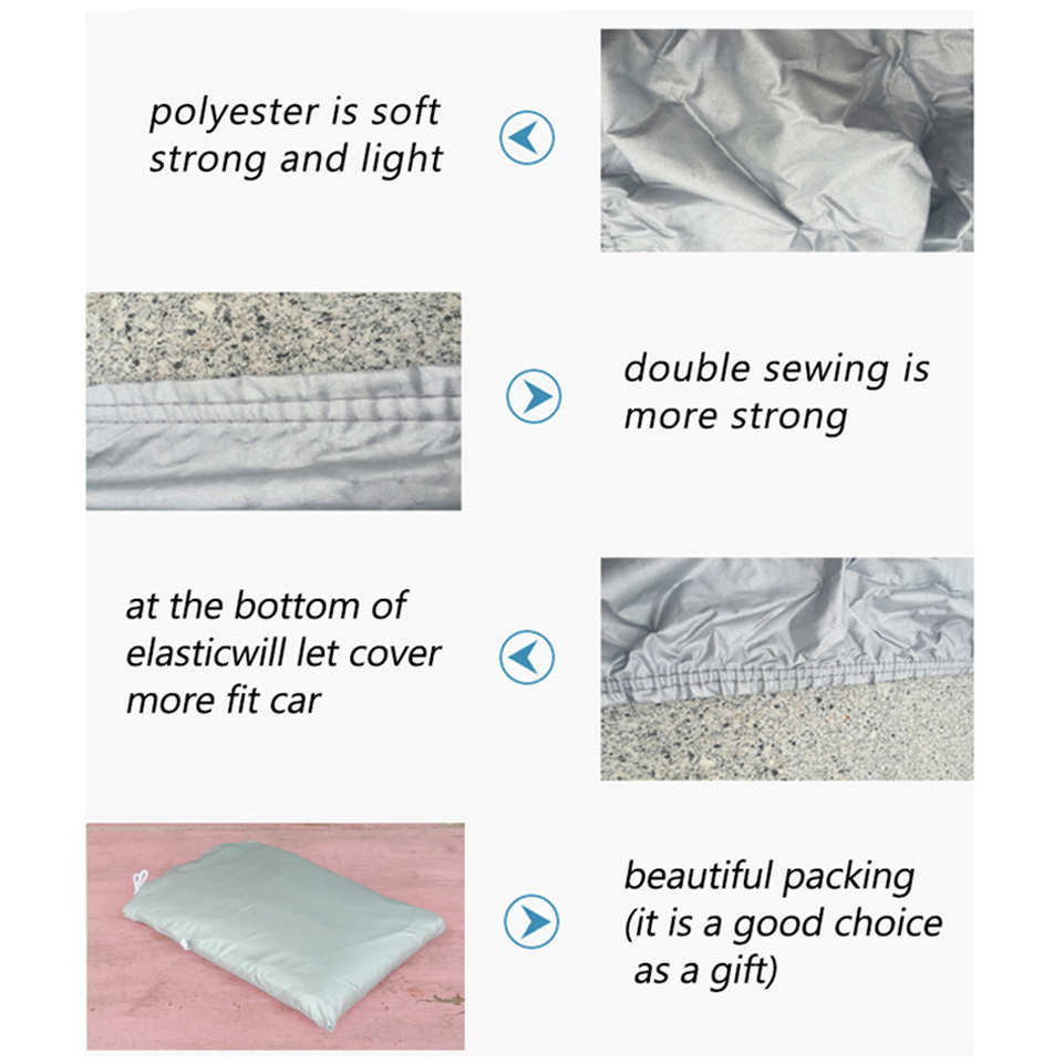 Image 3 - Kayme Full Car Covers Dustproof Outdoor Indoor UV Snow Resistant Sun Protection polyester Cover universal for Suv Toyota BMW vw-in Car Covers from Automobiles & Motorcycles