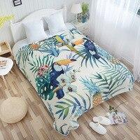 New Super Soft Kint Throw Blankets Tropical Plants Flannel Blanket Adjust To Adult/Child Use Sofa/Travel Cover Chrismas Cobertor