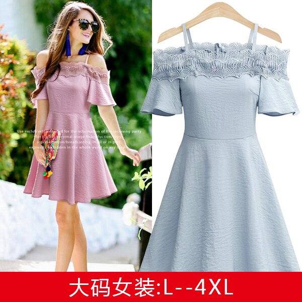6df997bd0 4xl além disso big size roupas femininas primavera verão 2017 estilo  coreano moda lace strap doce bonito casual vestido de festa feminino A3792  em Vestidos ...
