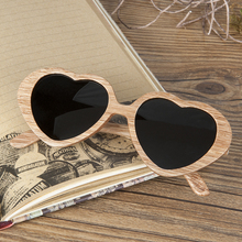 BOBO BIRD Brand Polar Pear Wood Sunglasses Women Heart-shaped Sun glasses Men as Gift Vingtage Drop Ship C-AG024a