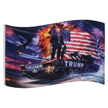 150X90CM 100D American President On The Tank Flag Polyester Banner Digital Print Big Hanging Printed