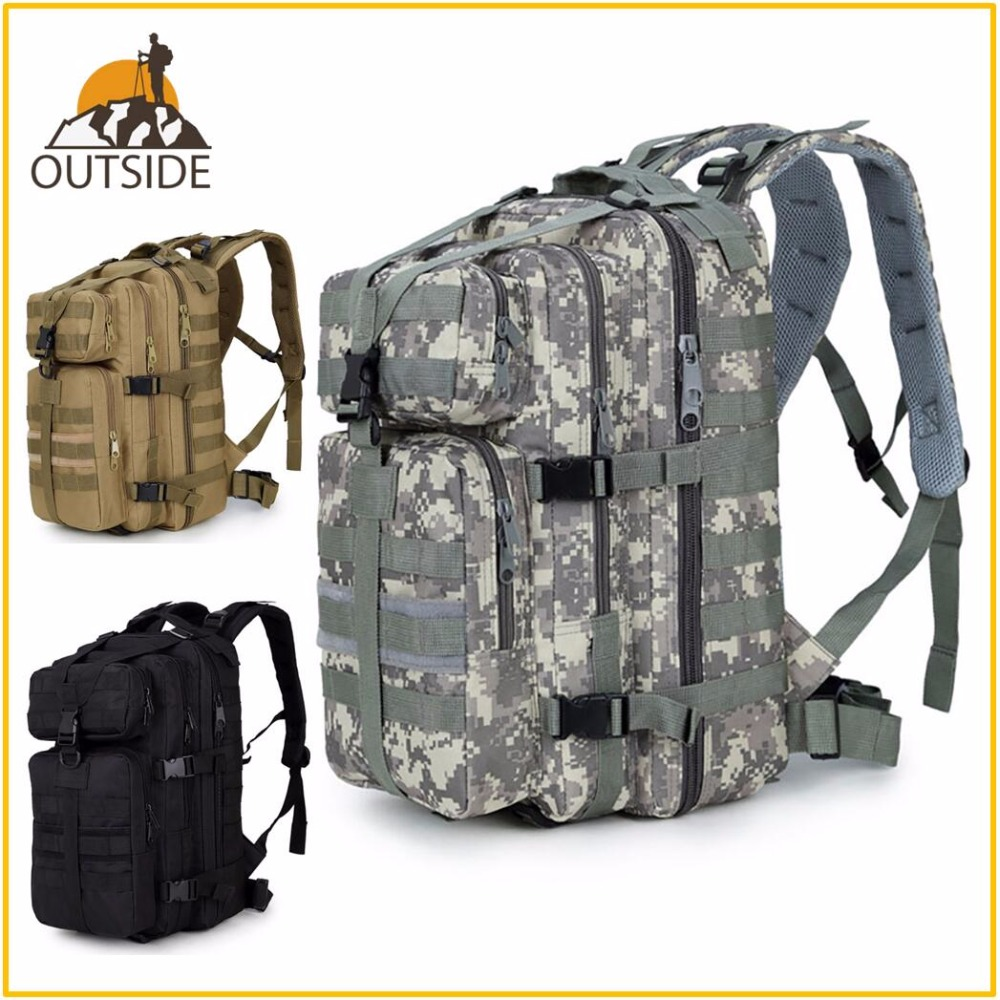 600D Waterproof Military Tactical Assault Molle Pack <font><b>35L</b></font> Sling <font><b>Backpack</b></font> Army Rucksack Bag for Outdoor Hiking Camping Hunting image
