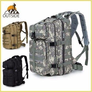 600D impermeable militar táctico asalto Molle paquete 35L Sling mochila ejército mochila bolsa para senderismo al aire libre Camping caza