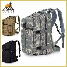 600D防水軍事戦術アサルmolleパック 35Lスリングバックパックリュックバッグ屋外ハイキングキャンプ狩猟
