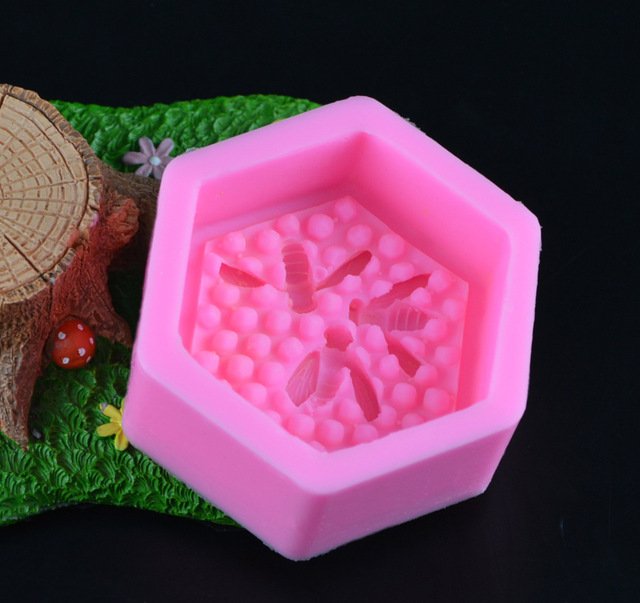 Bee Honeycomb Silicone Soap Molds Fondant Chocolate Cake Mold Resin Clay Candle Moulds DIY Kitchen Baking Cake Tools E925 3