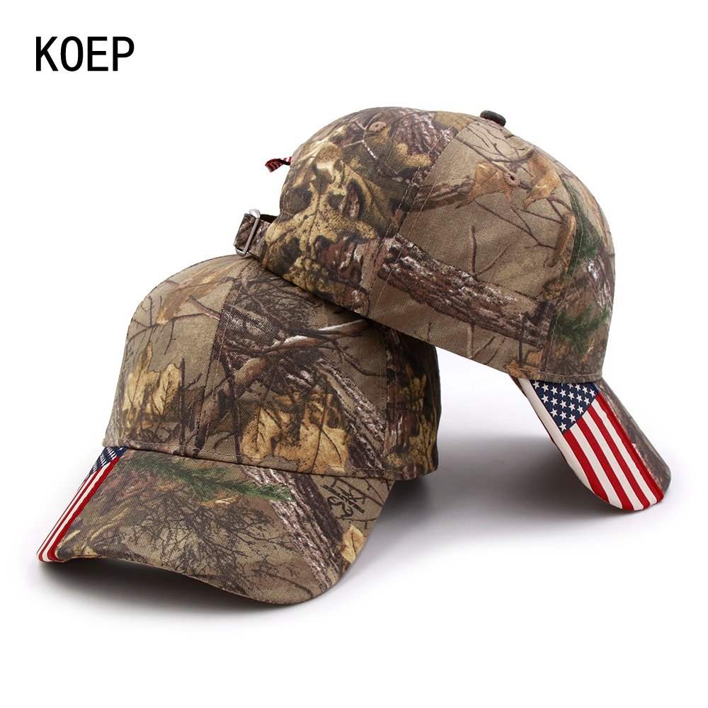 71a103addd1 KOEP 2018 Fashion Hunting Camouflage Baseball Cap Women s Men s Snapback Hat  Summer Outdoor Fishing Hats For Men Army Camo Caps-in Baseball Caps from ...