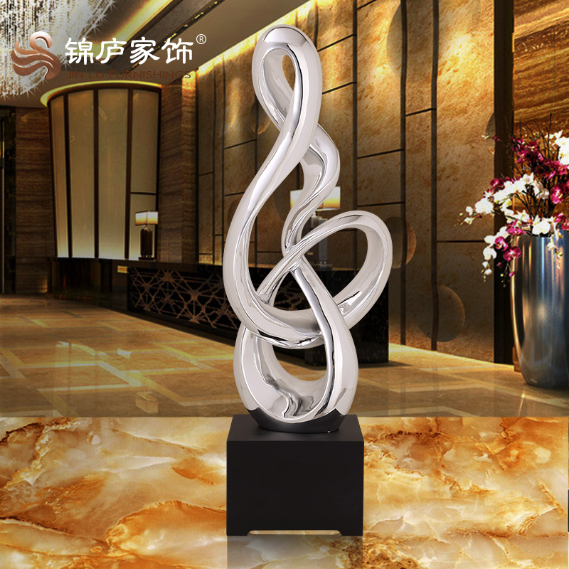 Modern Abstract Sculpture Decoration Hotel Lobby Room