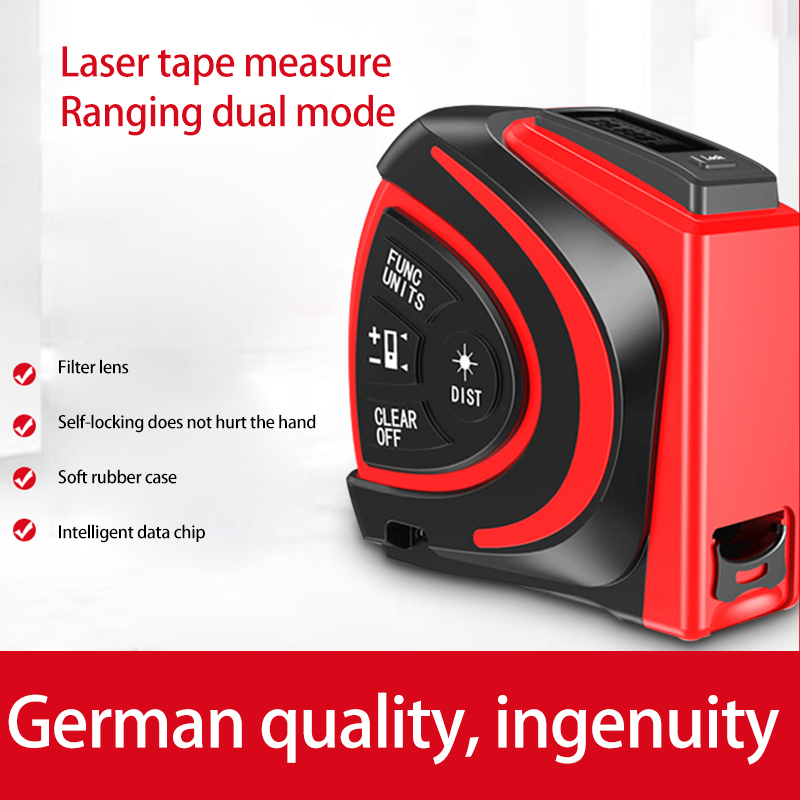 NEW Electronic ruler laser rule high precision laser measuring tool tape measure infrared measuring room artifact range finder