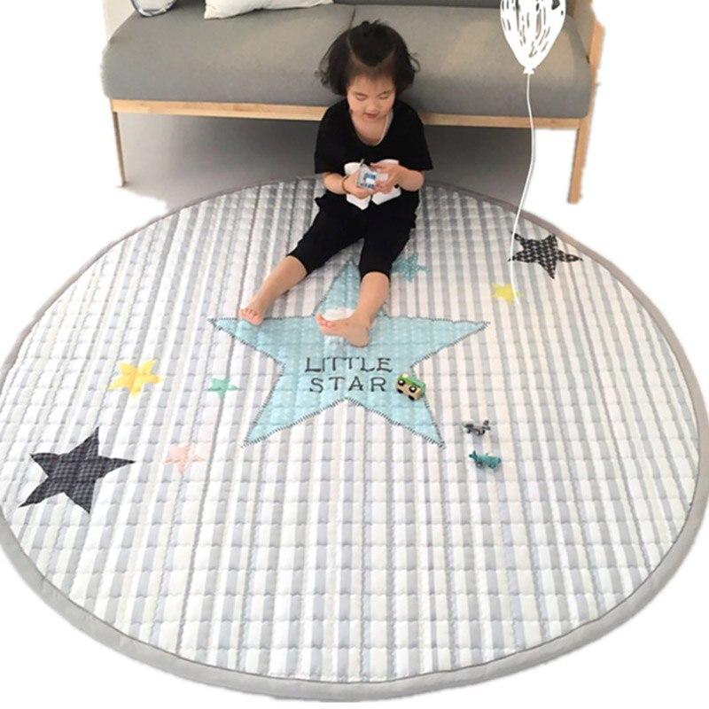 Tapis de dessin animé pour enfants tapis rampants en coton pliable épais 2 cm antidérapant chambre salon baie fenêtre coussin bébé tapis de jeu