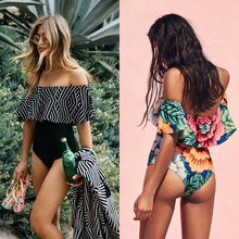 May Swimsuit Women 2019 One Piece Ruffle Swimwear Female One-Piece Suits Bathing Suit Maillot Padded Miao Beach Bathers Summer