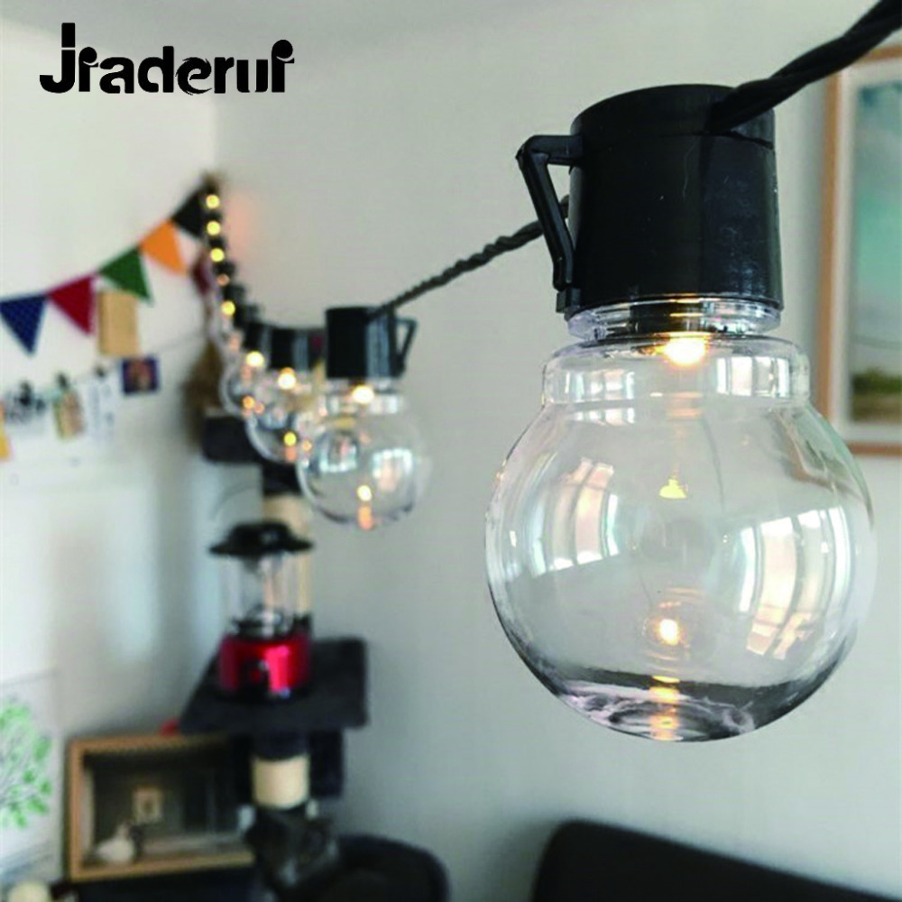 Jiaderui LED G45 20 String Light LED Christmas Lights Fairy Wedding Garden Pendant Garland Connectable Festoon Party Ball Lamp цена