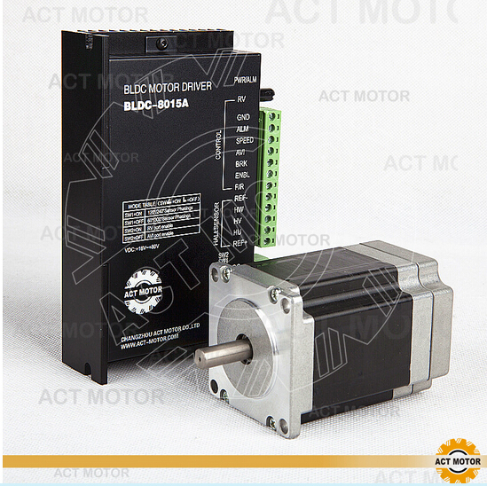 ACT Motor 1PC Nema23 Brushless DC Motor 57BLF02&1PC Driver BLDC-8015A 50V CNC free ship from germany act motor 1pc brushless dc motor driver bldc 8015a 24v 50v 45a peak 8000rpm max for nema17 23 34