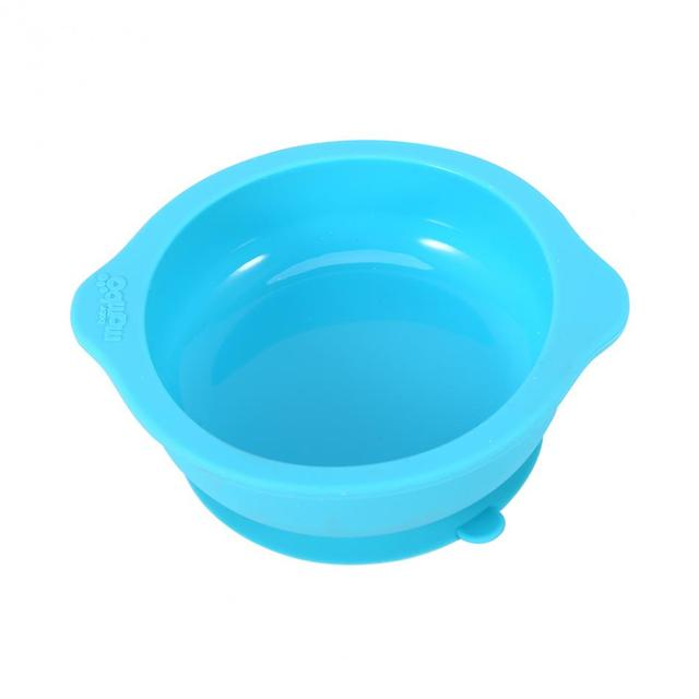 Round Silicone Baby Bowl with Suction Cup