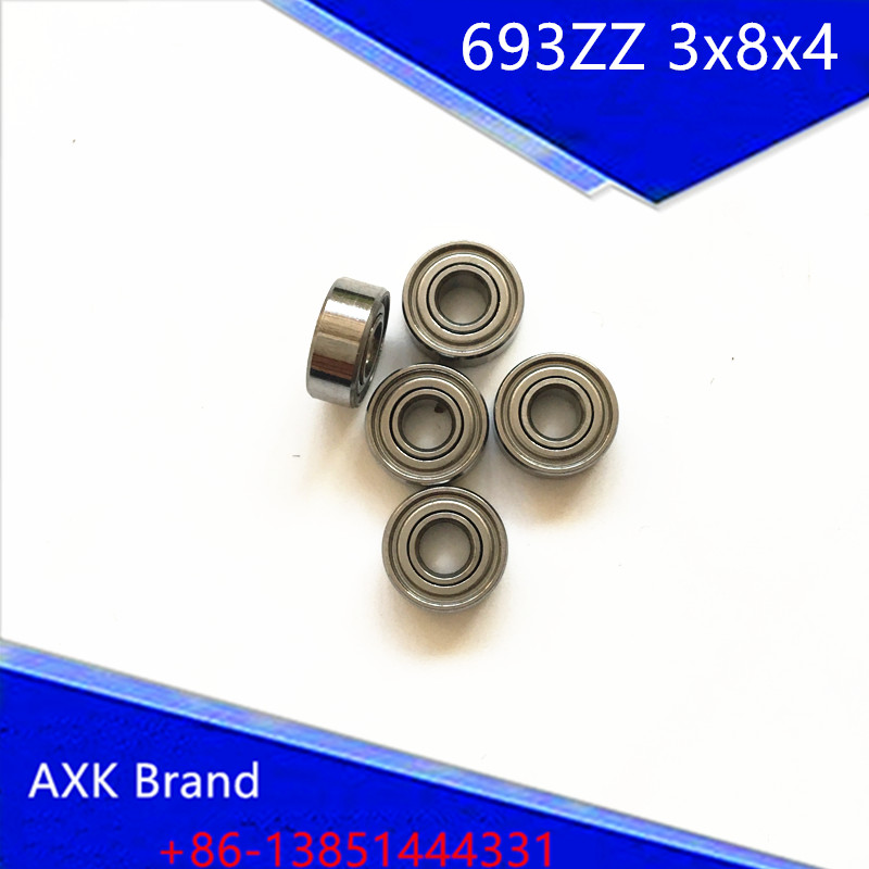 693ZZ Bearing ABEC-7 10PCS 3x8x4 mm Miniature 693 ZZ Ball Bearings 619/3ZZ  EMQ Z3 V3 Mini 693Z 3*8*4 Bearing 6903zz bearing abec 1 10pcs 17x30x7 mm thin section 6903 zz ball bearings 6903z 61903 z