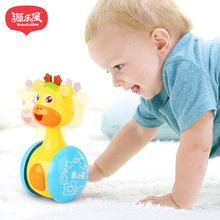 Купить с кэшбэком yuanlebao tumbler Baby Rattles & Mobiles Toys can slide the bell 0-3 years old baby learn to climb baby toys