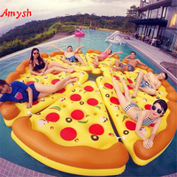 Amysh 180cm Inflatable pizza Swimming Ring Giant Pool Float Mattress Swimming Circle for Adult Beach Summer Water inflatable Toy