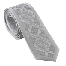 Мужская граница серебро/серый квадратный сетки полосатый шейный платок из микрофибры обтягивающий галстук 6 см для мужчин платье рубашки Свадьба Gravatas Corbata