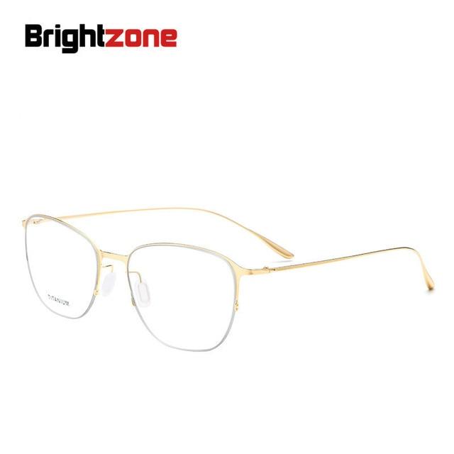 Brightzone Men Women Titanium Alloy Square Glasses Frame Exquisite ...