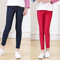 Girl Leggings Elastic Pants Skinny Infantil Para Menina Spring Summer Toddler Luster Thin Trousers Leggins for Girls Kids Teens