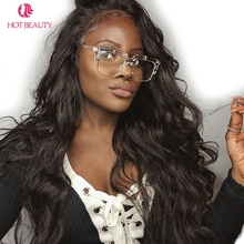 Hot Beauty Hair Brazilian Remy Hair Body Wave 360 Lace Frontal With Cap Pre Plucked Human Hair Frontal 1PC