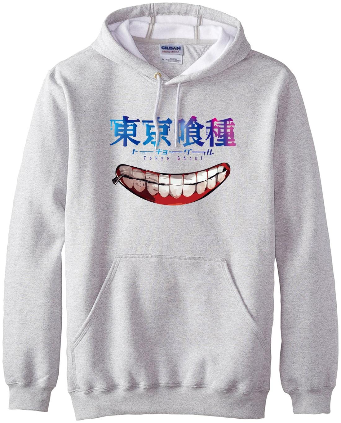 hot sale Tokyo Ghoul Men Hoodies Anime Ken Kaneki Sweatshirts 2017 spring winter new hooded sportswear hip hop sudadera hombre