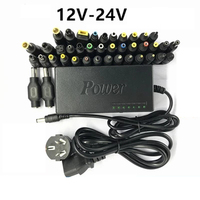 Adjustable 12 24V 96w AC DC Notebook Power Adapter with 40pcs Interface Multi function Charger