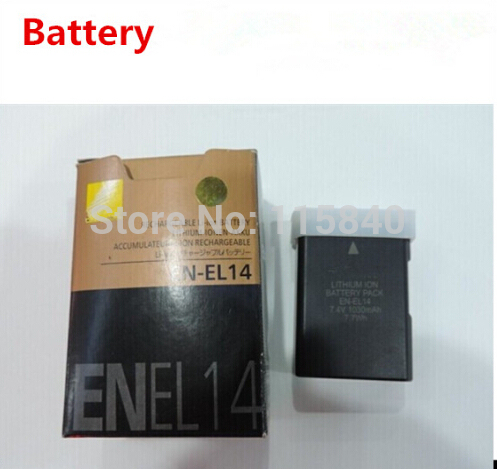EN-EL14 цифровых батарей EN EL14 ENEL14 Камера аккумулятор Для Nikon D5200 D3100 D3200 D5100 P7000 P7100 MH-24 bateria