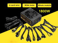 Mining Case Eth DASH Miners ZCASH Power Supply 1800W 12V Suitable Mute Full Module Power Supply