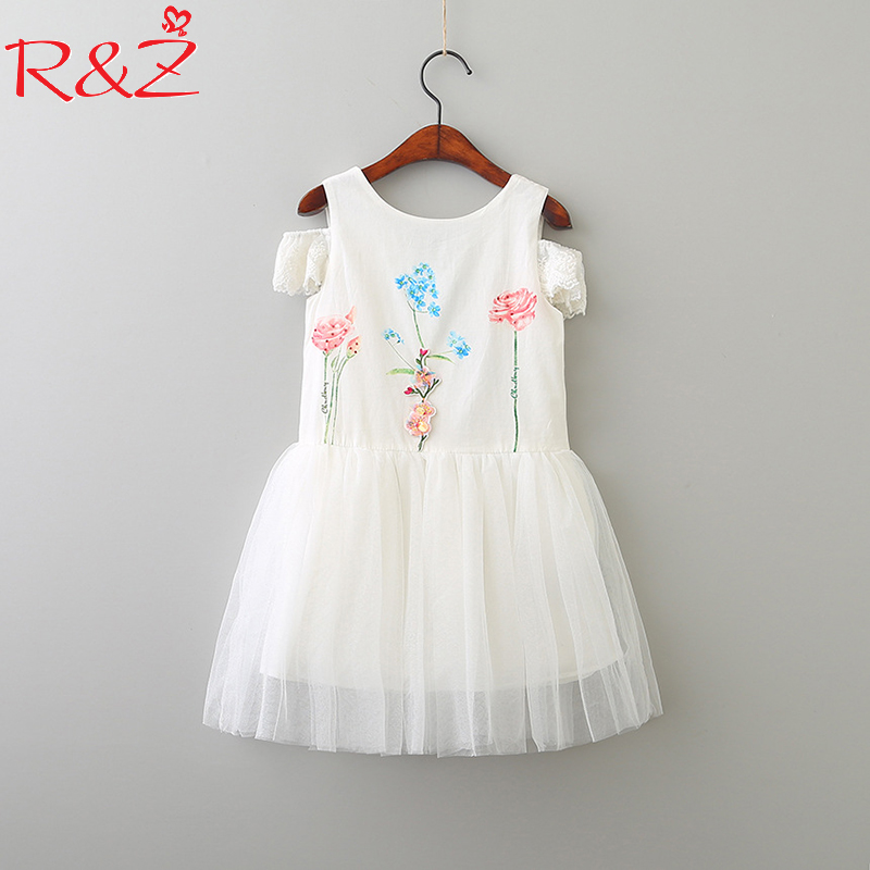 R&Z Baby Girls Dress 2018 Spring New Fashion Korean Version Big Bow Print Stereo Flower Lace Stitching Dresses Kids Clothes pregnant women dress new fashion korean version fall