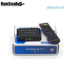 10pcs New Arrival Freesat V7 DVB-S2 HD satellite TV receiver Youtube Power VU CCcam Newcamd Free Shipping Not Support IPTV