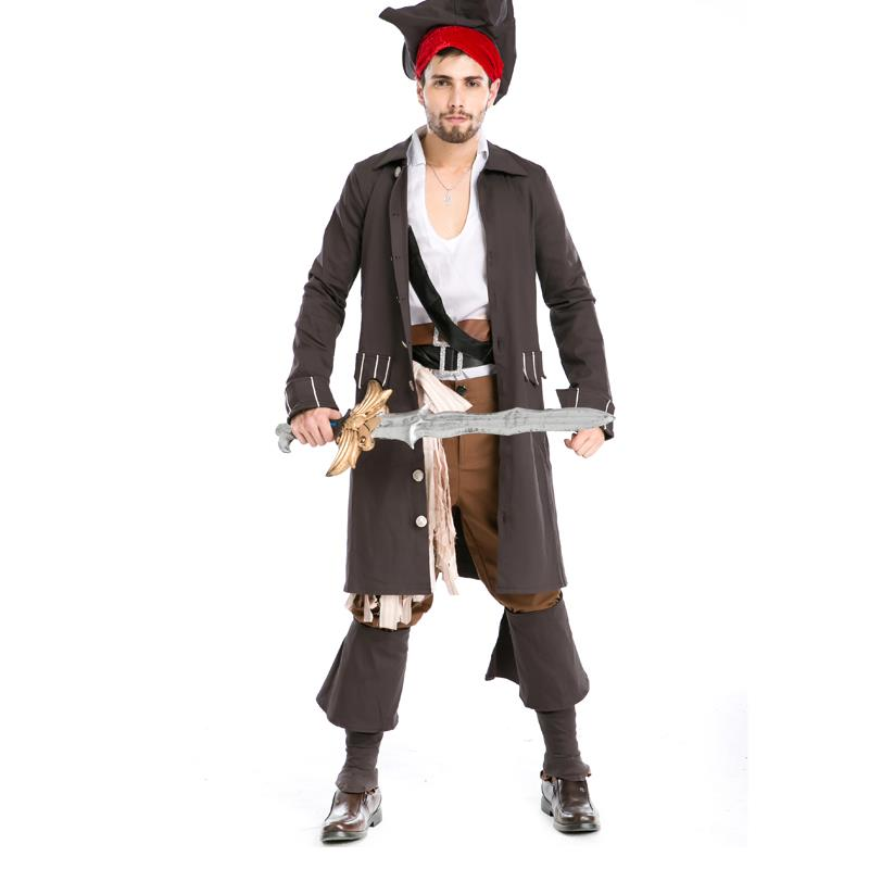 New Arrival Cool Princess Caribbean pirates Halloween costumes men suits Dress up party Role play uniform Cosplay wear A155820